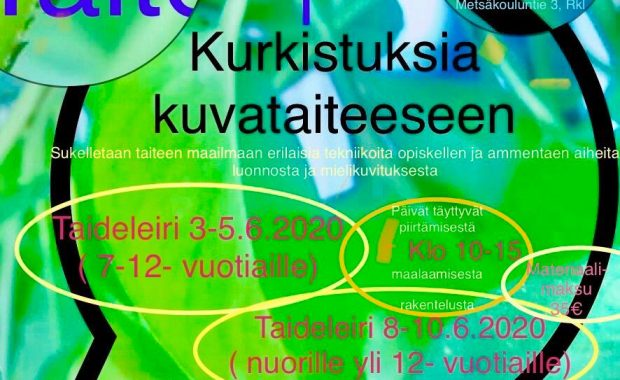 Tervetuloa taideleirille 3.-5.6.2020